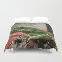 iggy Duvet Covers featuring Iggy by IowaShots