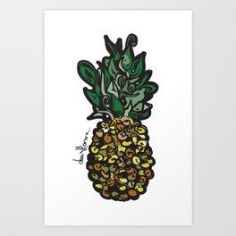 Piña vector Art Print