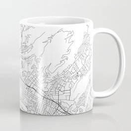 Honolulu White Map Coffee Mug