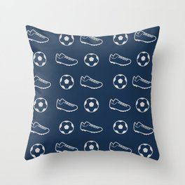 The Soccer Pattern Throw Pillow