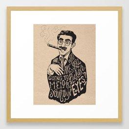 Groucho Framed Art Print