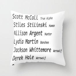 Teen Wolf Throw Pillow