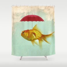 under cover goldfish 02 Shower Curtain