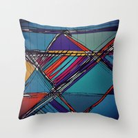 urban Throw Pillows featuring Urban by Julia Tomova