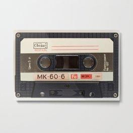 Vintage Music Cassete Metal Print