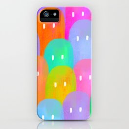 colorful ghosties iPhone Case