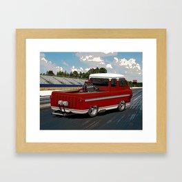 1963 #Ford #Econoline #HotRod Van/Truck (sketch) style Framed Art Print