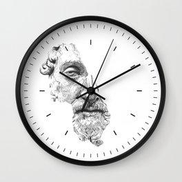 MARCUS AURELIUS ANTONINUS AUGUSTUS / black / white Wall Clock