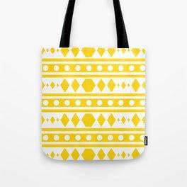 Tribal pattern Yellow Tote Bag