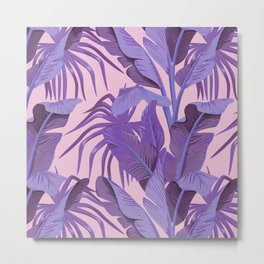 Tropical '17 - Starling [Banana Leaves] Metal Print