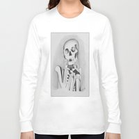 skeleton Long Sleeve T-shirts featuring Skeleton by Ellen Norden