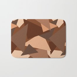 Chocolate Caramels Triangles Bath Mat