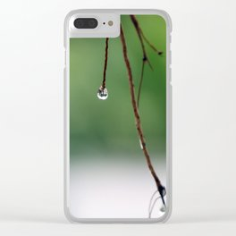 Drop as a mirror Clear iPhone Case