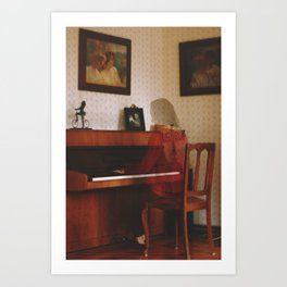 Piano lesson Art Print