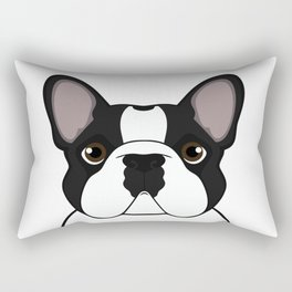 Frenchie - Brindle Pied Rectangular Pillow