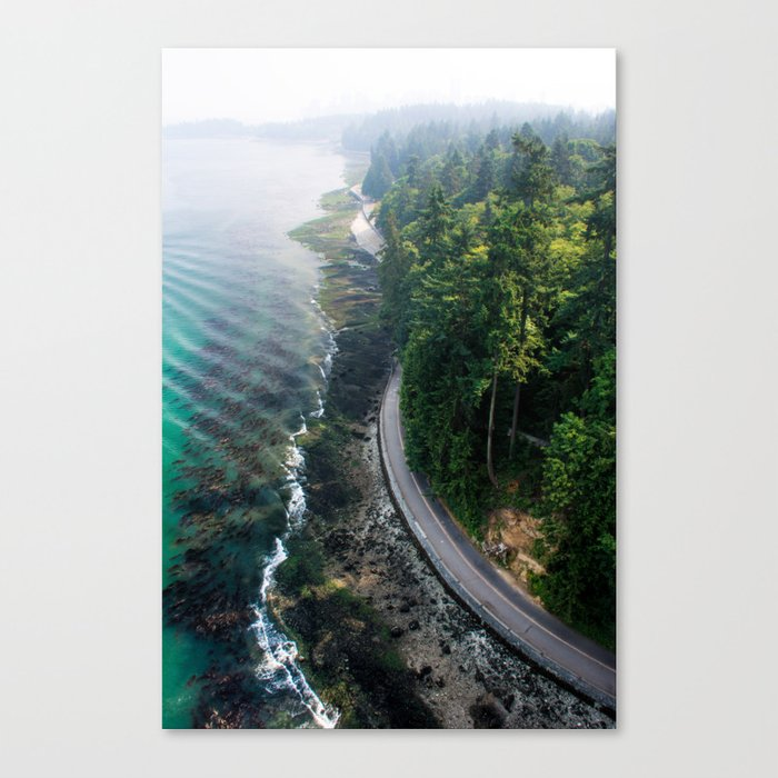 The Vancouver Seawall Canvas Print