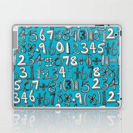 math doodle blue Laptop & iPad Skin