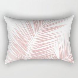 Blush Pink Palm Leaves Dream - Cali Summer Vibes #1 #tropical #decor #art #society6 Rectangular Pillow