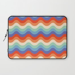 Retro Rainbow (Wavy Stripes) Laptop Sleeve