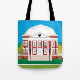 Charlottesville, Virginia - Skyline Illustration by Loose Petals Tote Bag