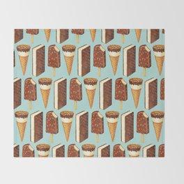 Ice Cream Pattern - Popsicles Throw Blanket
