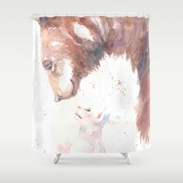 Bear and the Cat Shower Curtain