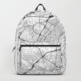 Charlotte Map White Backpack