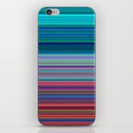 Blurry Saturn Stripes iPhone Skin