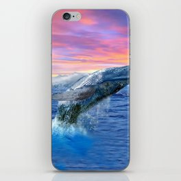 Breaching Humpback Whale at Sunset iPhone Skin