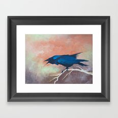 Crow Scream Framed Art Print