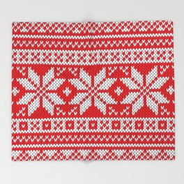 Winter knitted pattern 3 Throw Blanket