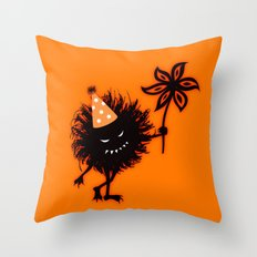Evil Bug Halloween Party Throw Pillow
