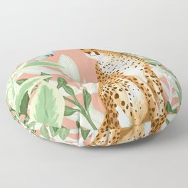 Tropical Cheetah Floor Pillow