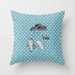 I Hate You / Rain Throw Pillow