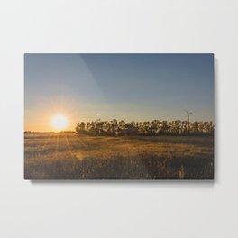 Falling Barn, North Dakota 8 Metal Print