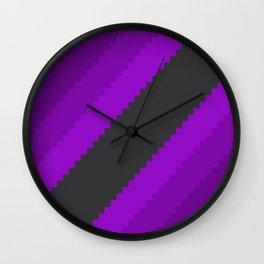 Pixel Grape Juice Dreams - Purple Wall Clock