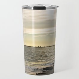 Sunset and the Lighthouse Travel Mug