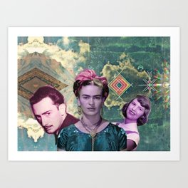 the three muskateers  Art Print