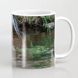 Great Blue Heron Fishing - III Coffee Mug