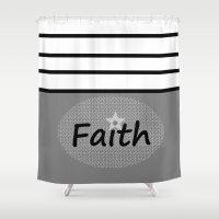 faith Shower Curtains featuring Faith by Jessielee