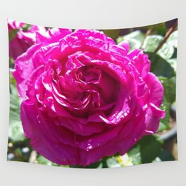 Chartreuse Rose Wall Tapestry