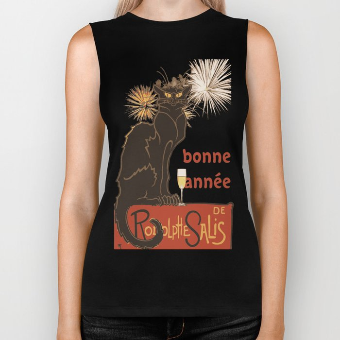 Bonne Annee Happy New Year Parody Biker Tank