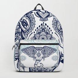 Bohemian Elephant Tribal Boho Gradient Blue Backpack