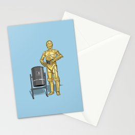 C3PO & Trash Stationery Cards