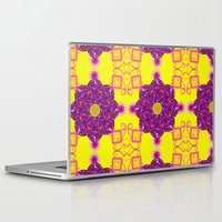 psychadelic Laptop & iPad Skins featuring Psychadelic Flora by Cynthia Squire