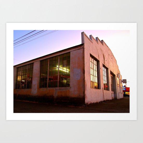 Auto Garage Art Print