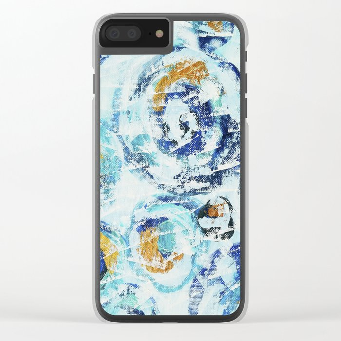 Abstract painting Clear iPhone Case