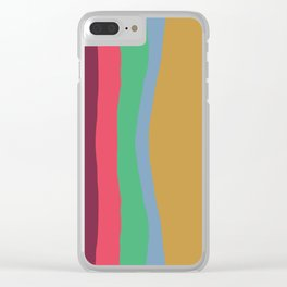 Cut Out Color Block #3 Clear iPhone Case