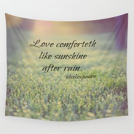 Sunshine after Rain Shakespeare Wall Tapestry