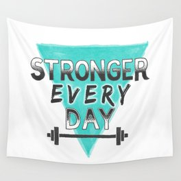 Stronger Every Day (barbell) Wall Tapestry